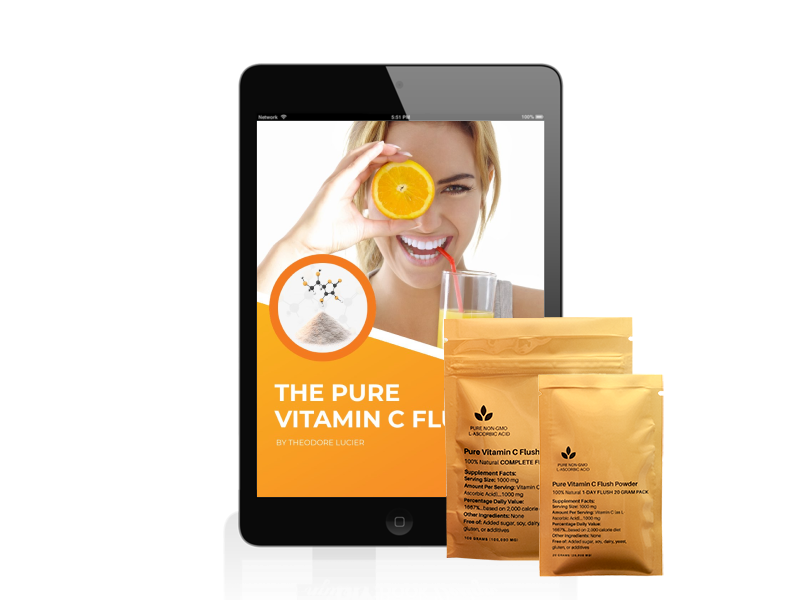 Pure Vitamin C Flush 3D Cover iPad 2 Pac